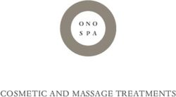 COSMETIC AND MASSAGE TREATMENTS