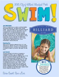 Swim Smart. Save Lives. 2015 City of Hilliard Municipal Pools