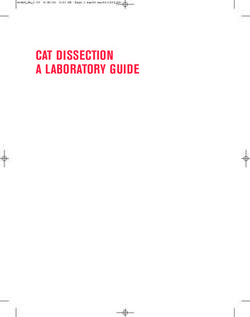 CAT DISSECTION A LABORATORY GUIDE