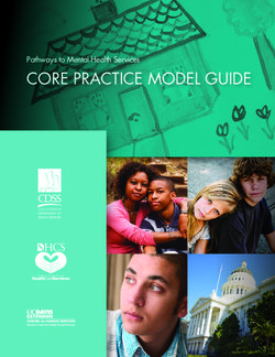 CORE PRACTICE MODEL GUIDE Pathways to Mental Health Services