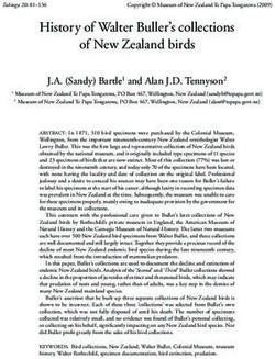 History of Walter Buller's collections of New Zealand birds