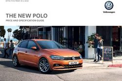 THE NEW POLO - PRICE AND SPECIFICATION GUIDE