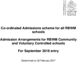 Co-ordinated Admissions scheme for all RBWM schools