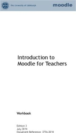 Introduction to Moodle for Teachers