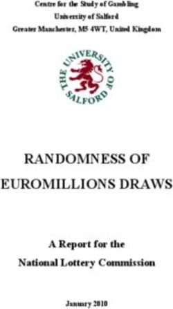 RANDOMNESS OF EUROMILLIONS DRAWS A Report for