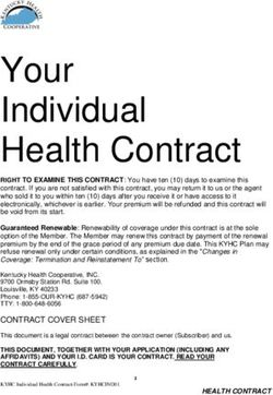 Your Individual Health Contract