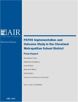 PATHS Implementation and Outcome Study in the Cleveland Metropolitan School District