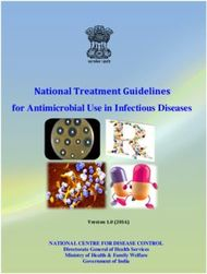National Treatment Guidelines - for Antimicrobial Use in Infectious Diseases