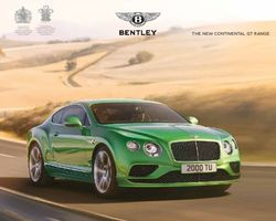 Bentley. The New Continental GT Range. Catalogue 2015.