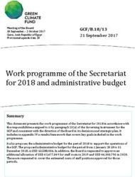 Work programme of the Secretariat for 2018 and administrative budget