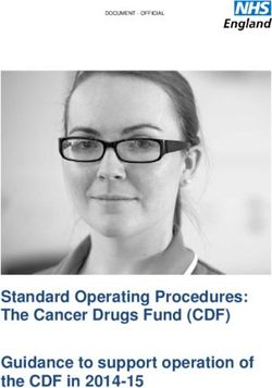 Standard Operating Procedures: The Cancer Drugs Fund (CDF) Guidance to support operation of the CDF in 2014-15