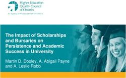 The Impact of Scholarships and Bursaries on Persistence and Academic Success in University