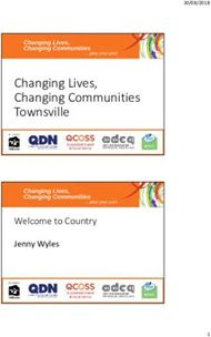 Changing Lives, Changing Communities Townsville
