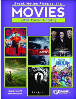 Swank Motion Pictures, Inc. 2013 Movie Catalog