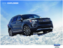 Ford Explorer 2016. Brochure.