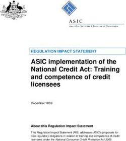 ASIC implementation of the National Credit Act: Training and competence of credit licensees