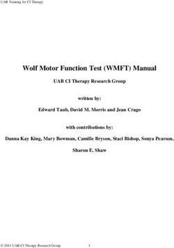 Wolf Motor Function Test (WMFT) Manual