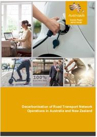 Decarbonisation of Road Transport Network Operations in Australia and New ...