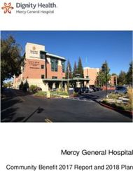 Mercy General Hospital - Community Benefit 2017 Report and 2018 Plan