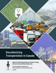Decarbonizing Transportation in Canada - Report of the Standing Senate ...