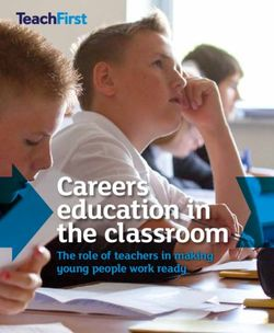 Careers education in the classroom The role of teachers in making young people work ready