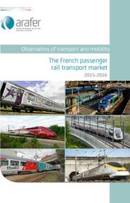 The French passenger rail transport market