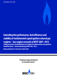 Extending the performance, fuel efficiency and stability of stoichiometric spark ignition natural gas engines - Gas engine research at KCFP 2007-2012