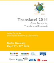 Translate! 2014 - Open Forum for Translational Research