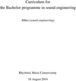 Curriculum for the Bachelor programme in sound engineering