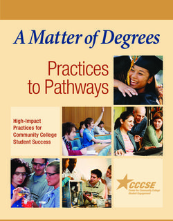 A Matter of Degrees Practices to Pathways