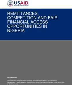 REMITTANCES, COMPETITION AND FAIR FINANCIAL ACCESS OPPORTUNITIES IN NIGERIA