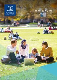 Year 10 guide 2021 entry - Study - University of Melbourne