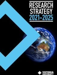 RESEARCH STRATEGY 2021-2025 - Victoria University