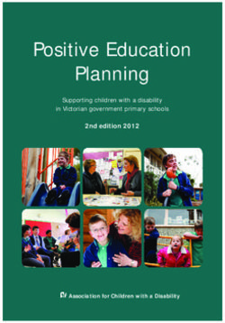 Positive Education Planning - 2nd edition 2012