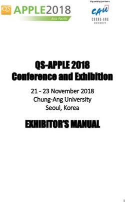 QS-APPLE 2018 Conference and Exhibition EXHIBITOR'S MANUAL