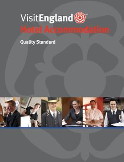 Hotel Accommodation Quality Standard