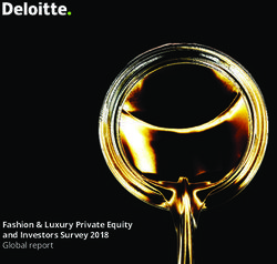 Fashion & Luxury Private Equity and Investors Survey 2018