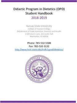 2018-2019 Didactic Program in Dietetics (DPD)