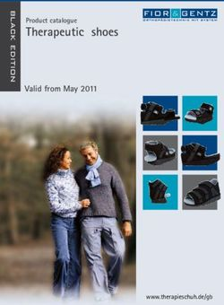 Therapeutic shoes Product catalogue Valid from May 2011