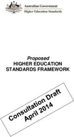 HIGHER EDUCATION STANDARDS FRAMEWORK