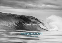 WORKING DRAFT - GC2018 benefits