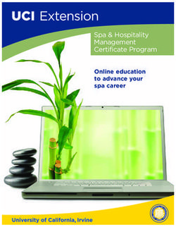 Spa & Hospitality Management Certificate Program
