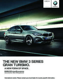 THE NEW BMW SERIES GRAN TURISMO.