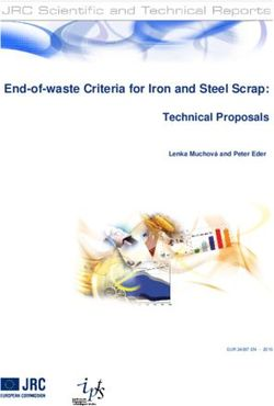 End-of-waste Criteria for Iron and Steel Scrap