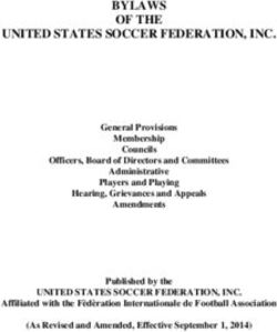 BYLAWS OF THE UNITED STATES SOCCER FEDERATION, INC.