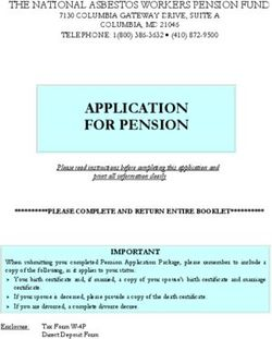 APPLICATION FOR PENSION