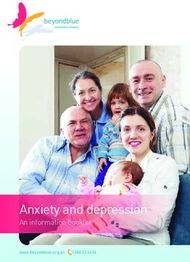 Anxiety and depression: An information booklet - Home - Beyond Blue