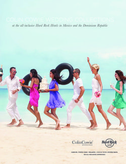 COLIN COWIE WEDDING COLLECTIONS at the all-inclusive Hard Rock Hotels in Mexico and the Dominican Republic