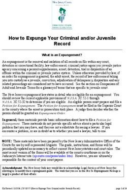 How to Expunge Your Criminal and/or Juvenile Record