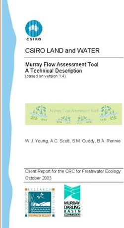 CSIRO LAND and WATER Murray Flow Assessment Tool A Technical Description (based on version 1.4)